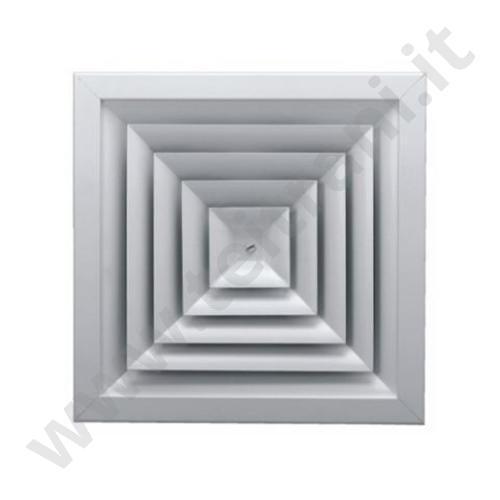 AF704450X450 - DIFFUSORE MULTIDIREZIONALI 450×450 IN ALLUMINIO RAL 9010