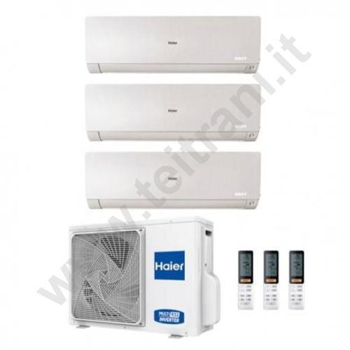 HAITRIALFL090912 - HAIER TRIAL SPLIT FLEXIS WHITE WI-FI 9000+9000+12000 MODELLO 3U70 S2SR3FA DC INVERTER GAS R32