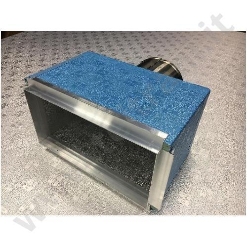 RE700FO450X450 - PLENUM ISOLATO PER DIFFUSORE 450×450 ATTACCO LATERALE  D.315