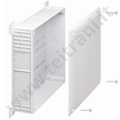 02092 - CASSETTA PER COLLETTORE PVC  42×30×8 CON SET FISSAGGI