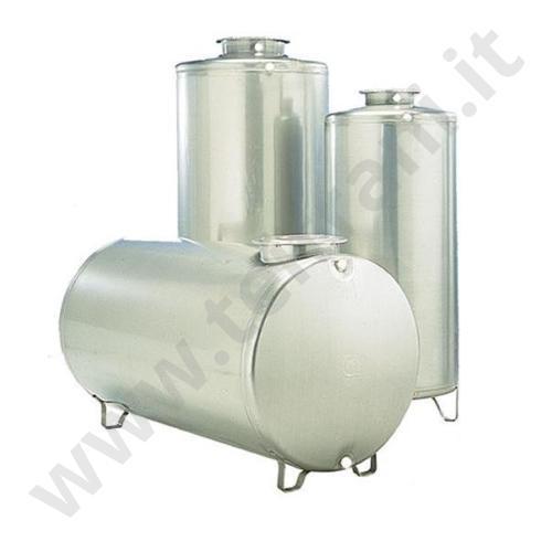 3701012010001 - SERBATOIO IN ACCIAIO INOX AISI 304 CILINDRICO VERTICALE LITRI 300 DIAMETRO 600 mm