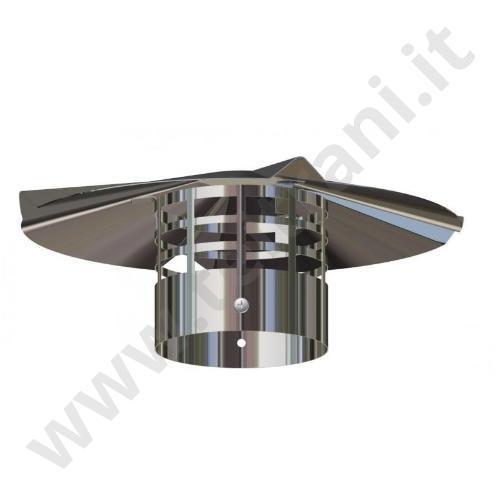 93520003 - TERMINALE SCARICO FUMI IN ACCIAIO INOX  D. 80 VERTICALE
