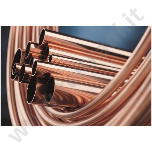 Tubo rame nudo in rotolo diametro 18 1 per impianti di for Rubinetti per tubi di rame
