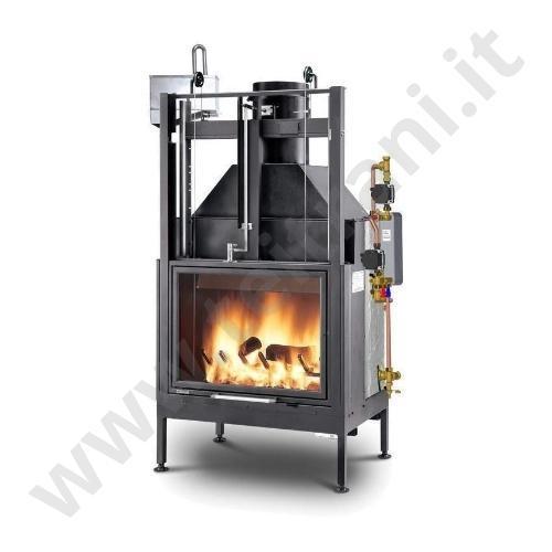 Palazzetti termocamino a legna termopalex for Termocamini combinati legna e pellet palazzetti