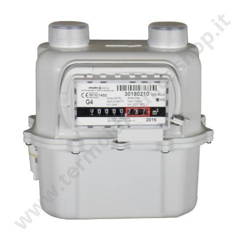 05187 - CONTATORE GAS METANO O G.P.L. PORTATA 6 MC/H COMPLETO DI CERTIFICATO