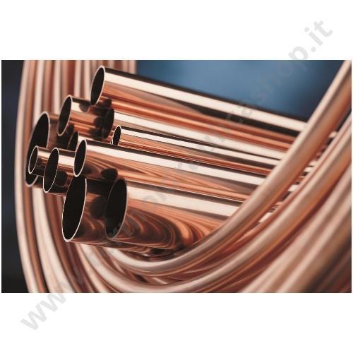 CUN18 - TUBO RAME NUDO IN ROTOLO DA 50 METRI DIAMETRO 18×1